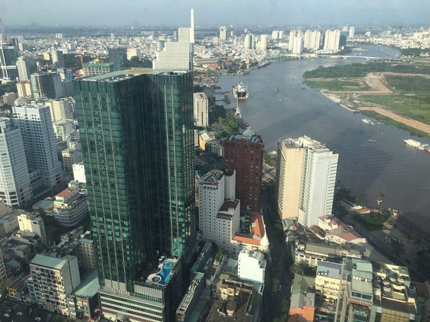 View from tallest building in Ho Chi Minh City